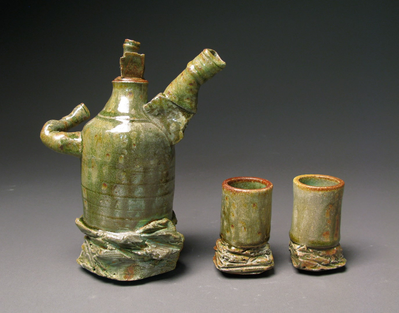 Ceramic Pitcher and Cups