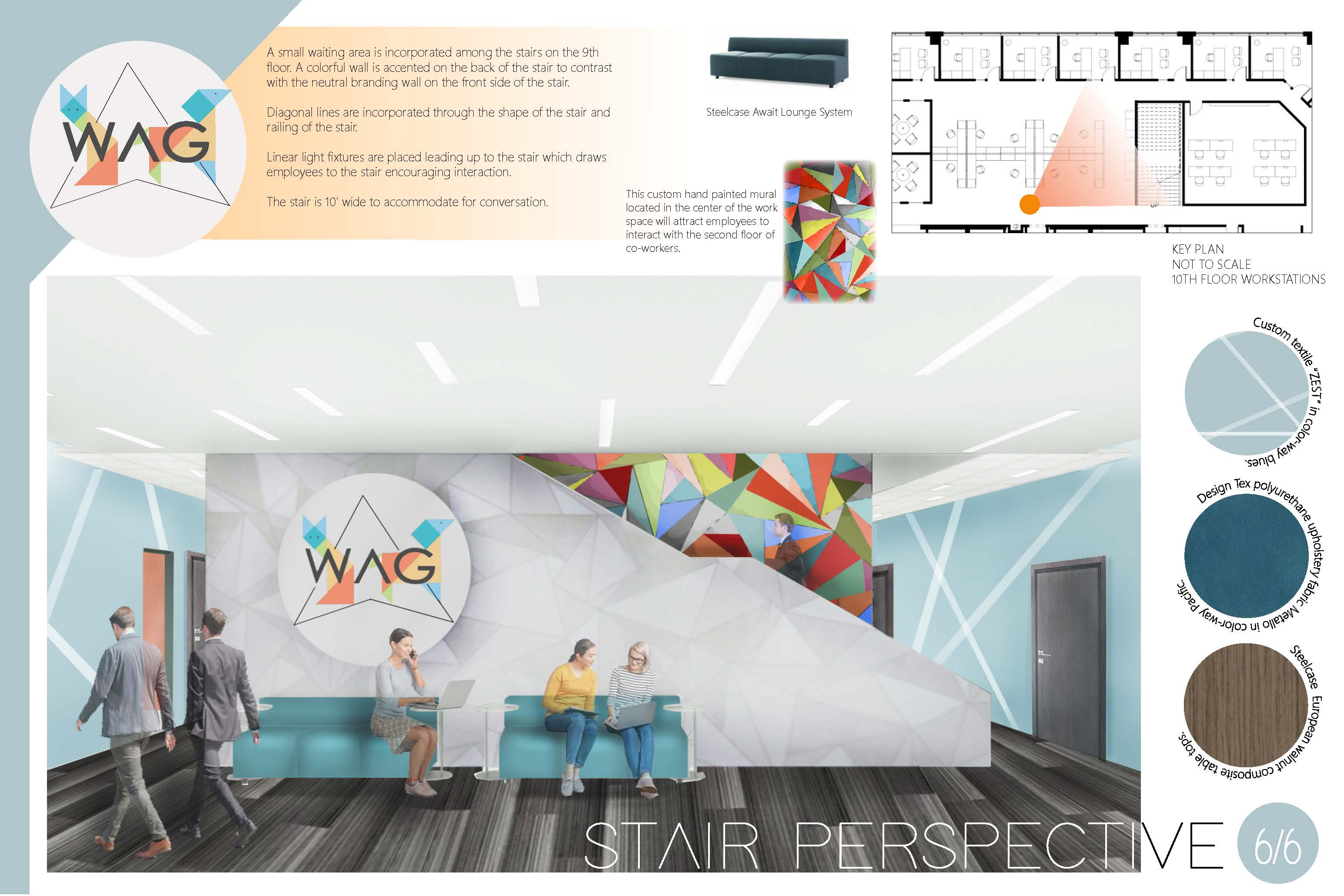 Ginny Dance, second place, 2019 Barefield Workplace Solutions Steelcase Project