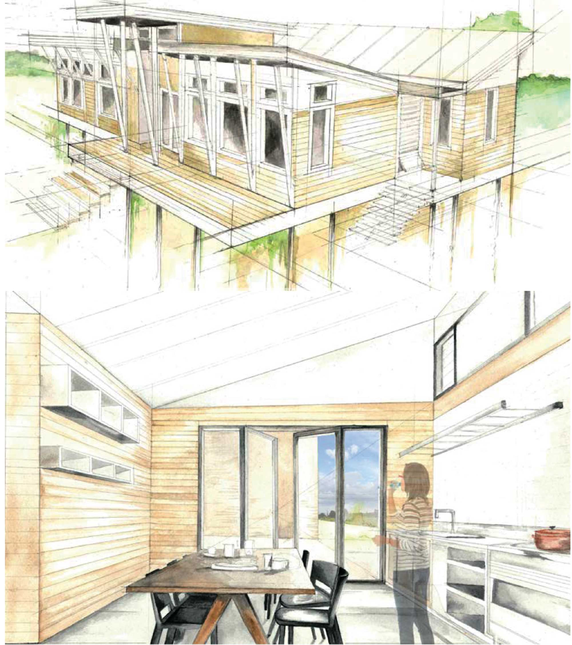 Lara Lynn Wadell: Eastmoor Estates watercolor renderings