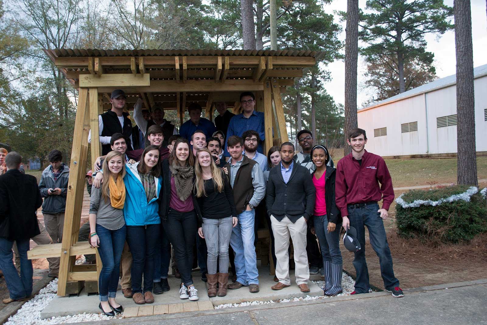 Fall 2013 Collaborative Studio, Mississippi Band of Choctaw Indians bus shelter project