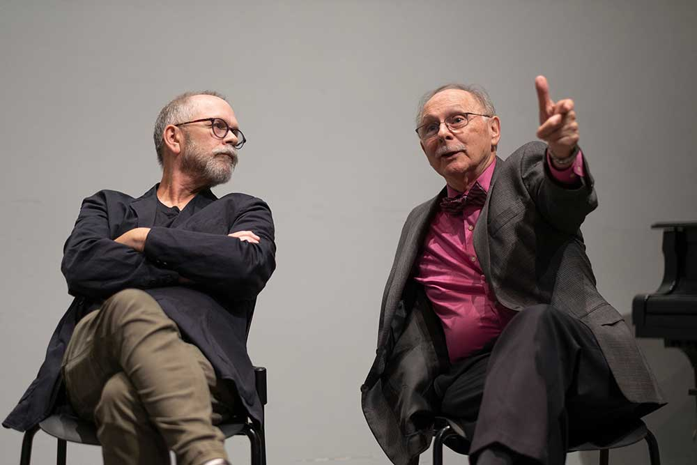 seated: left to right: Nils Gore and Michael Buono