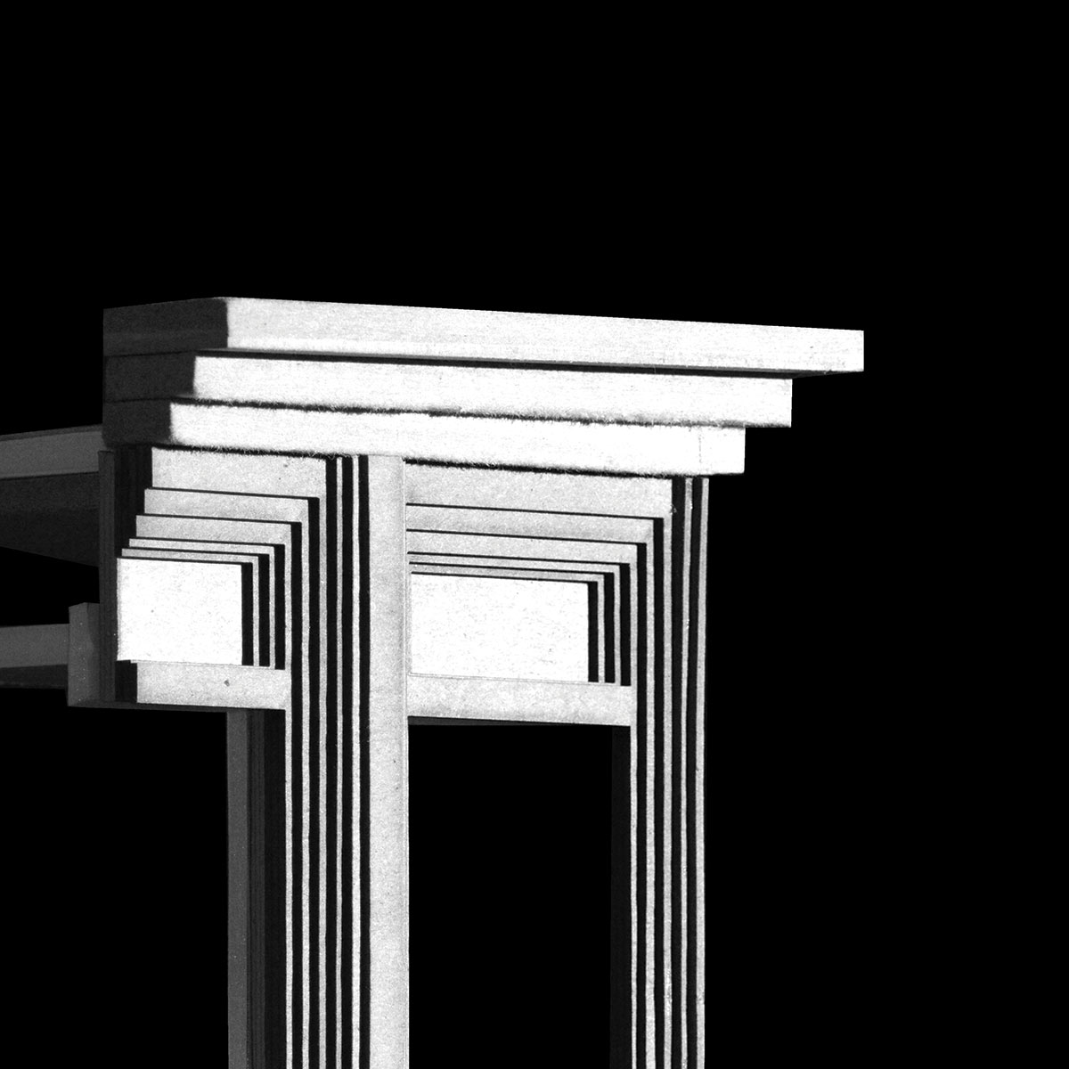 black and white image of what looks to be columns