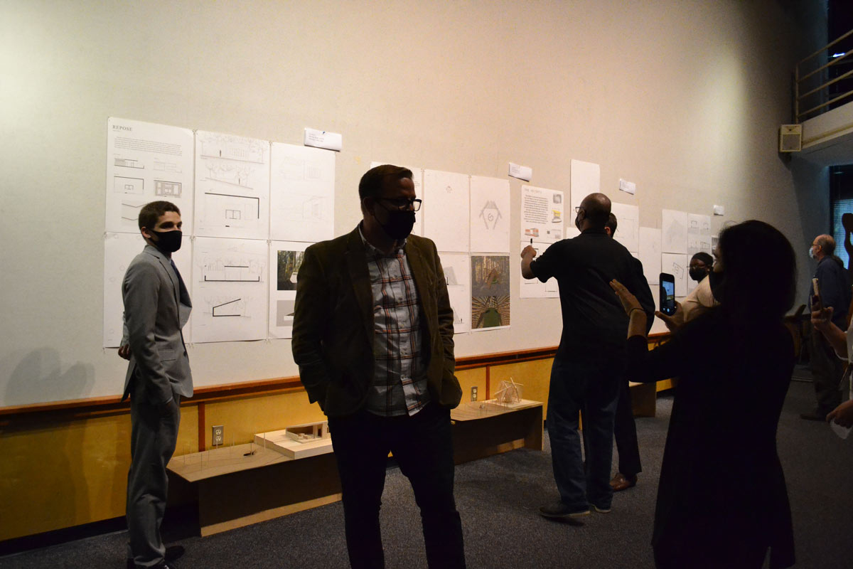 Students present their final projects.