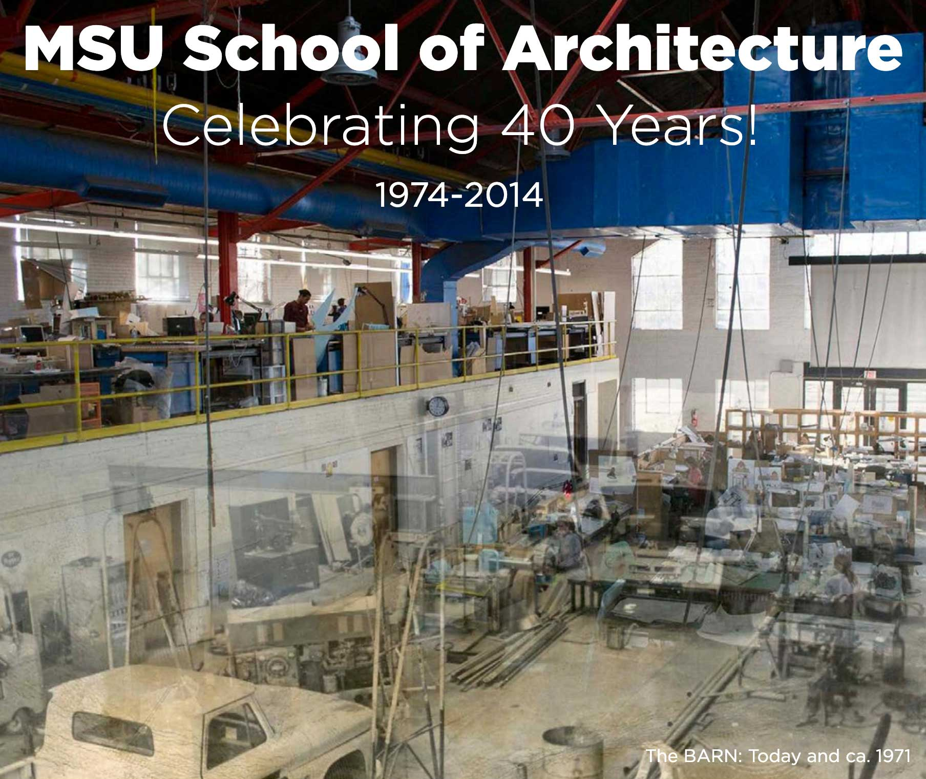 Cover image for scrapbook, MSU School of Architecture, Celebrating 40 Years
