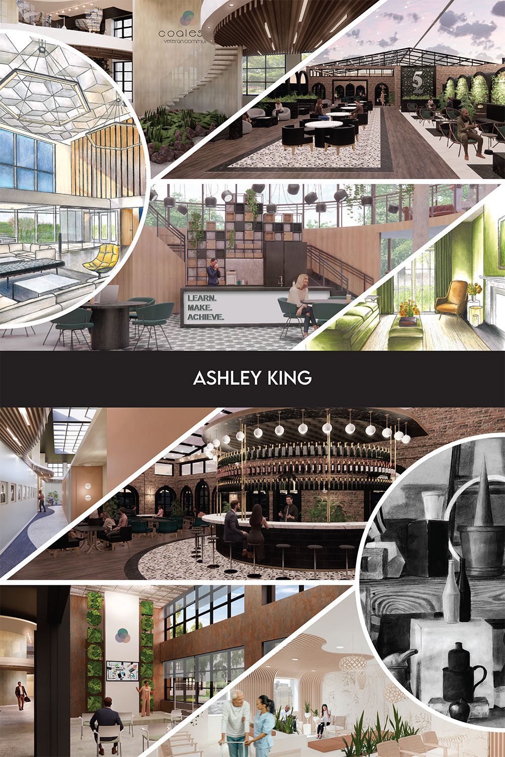 senior interior design board by Ashley King