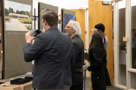 Photo from the reception of 'The Unbuilt Arboretum' exhibition showcases unrealized work by architect E. Fay Jones - Mississippi State University School of Architecture