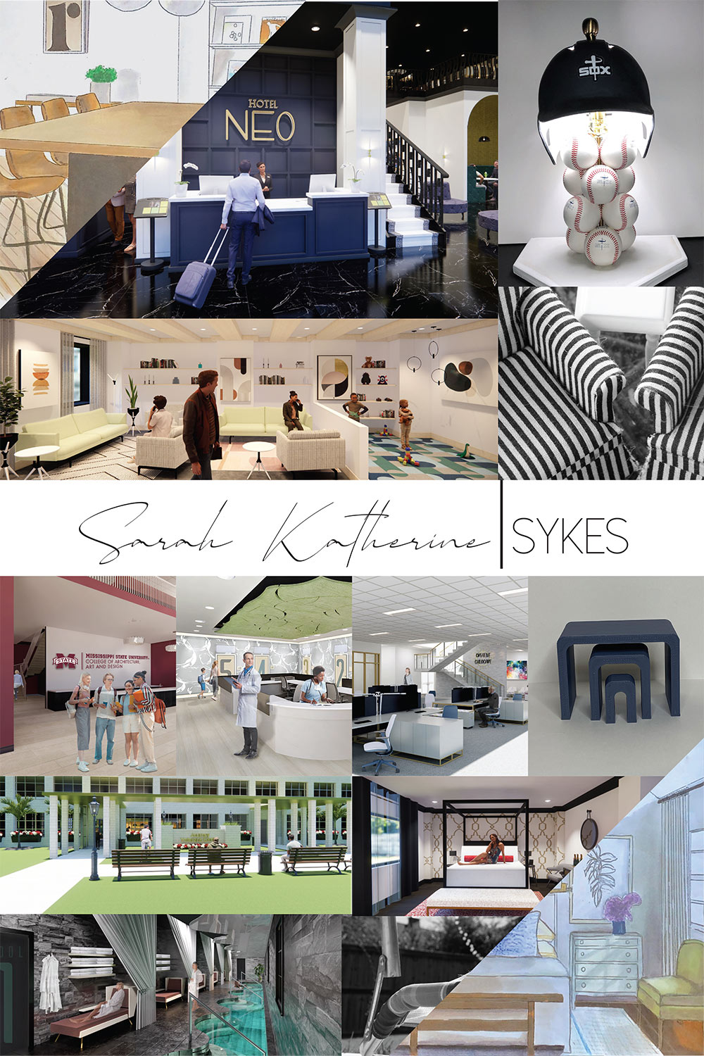 senior interior design board by Kat Sykes