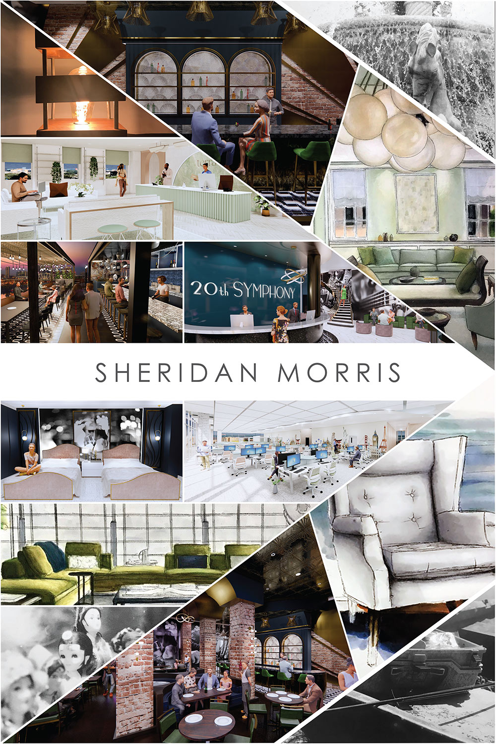 senior interior design board by Sheridan Morris