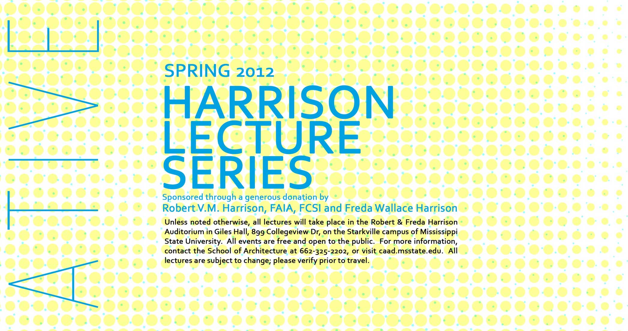 Image of poster from Harrison Lecture Series - Spring 2012