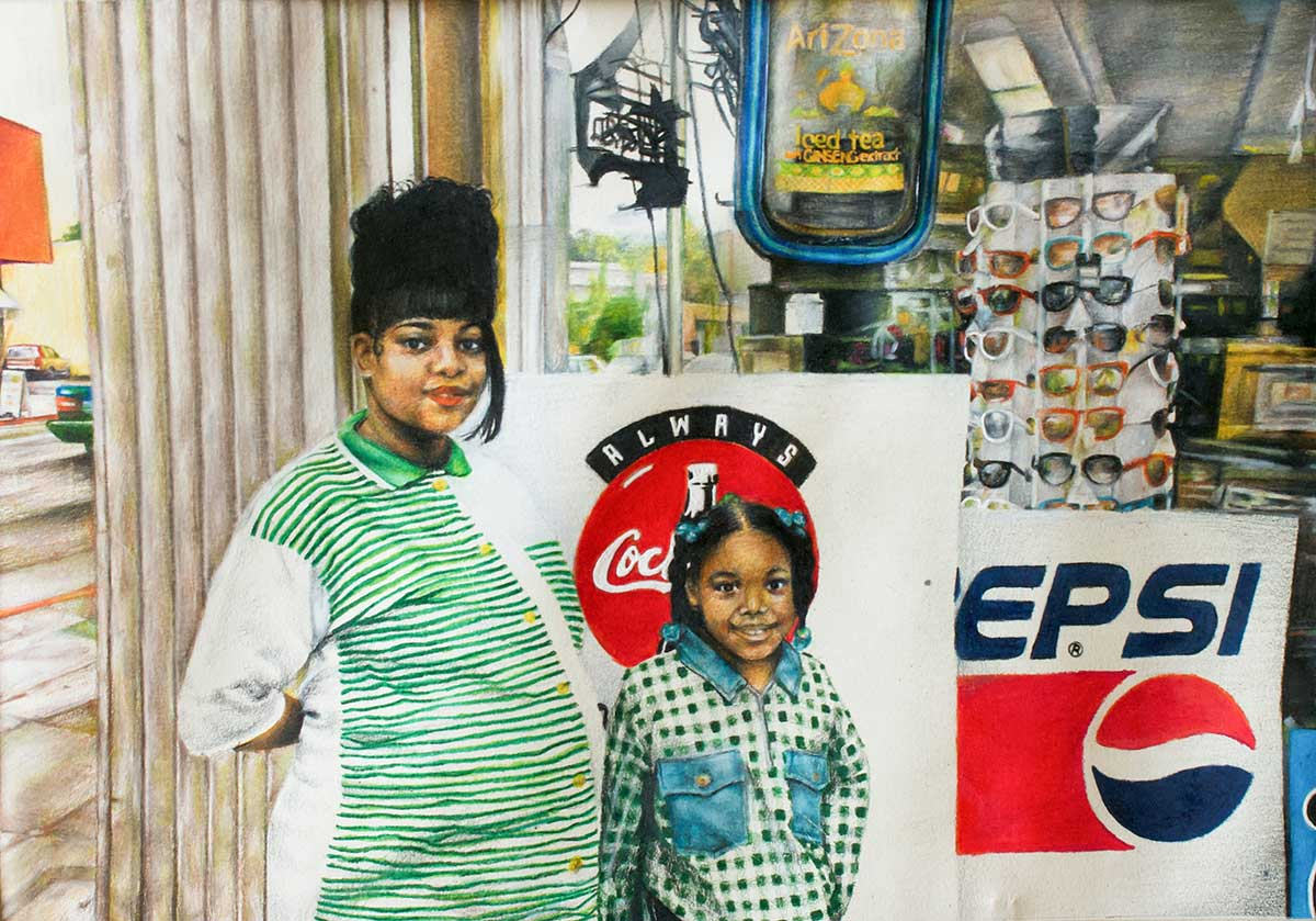 """Somewhere in Cali,"" a drawing by MSU junior art/fine arts major Mecca S. Givens of Richland, was one of two works recognized with a superior achievement award during the 2019 Mississippi Collegiate Arts Competition. (Submitted photo/by Mecca Givens)"